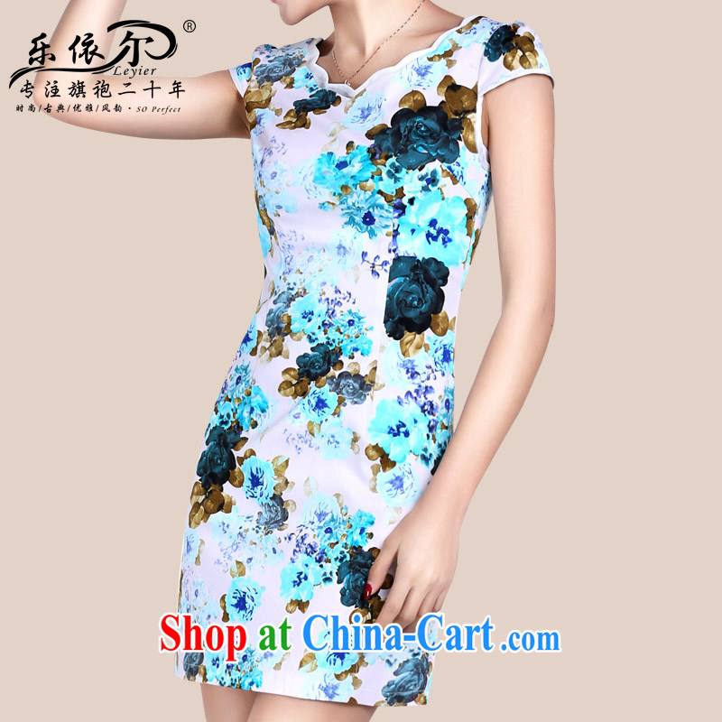 And, according to Mr Ronald ARCULLI short-sleeved dresses girls dresses dresses short retro stamp daily outfit classic and elegant female blue XXL
