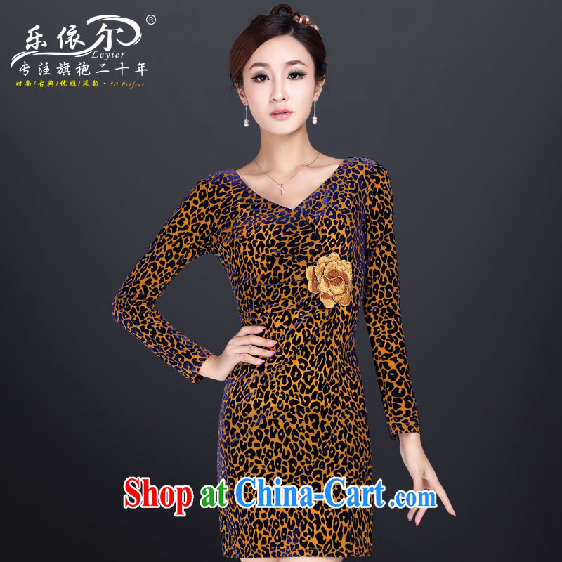And, in accordance with autumn cool wool beauty antique dresses skirts improved stylish embroidered Leopard stretch sexy outfit Leopard XXL