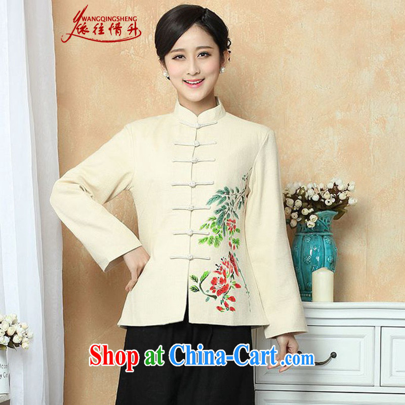 In accordance with the conditions in Spring and Autumn and the stylish new products, old mother with the stamp duty for Chinese long-sleeved jacket WNS_2390 _ 13 XL