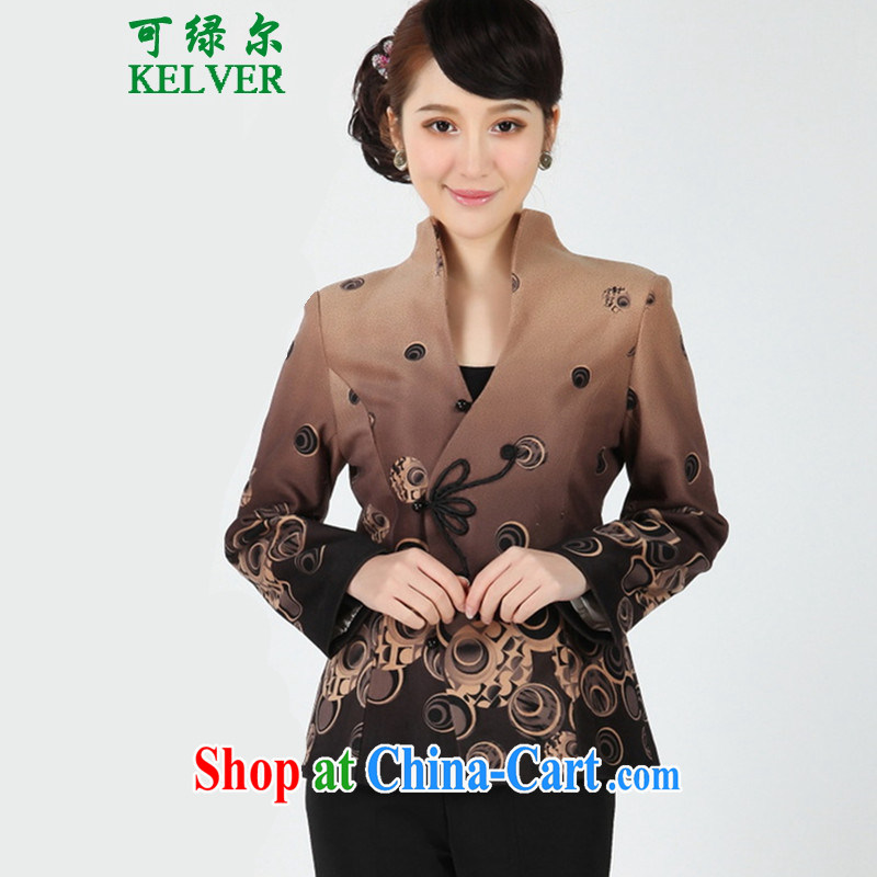 To Green, older women with autumn and winter fashion new mom with the stamp duty for Tang jackets - 1 its M