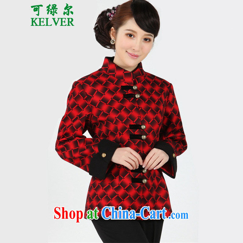 To Green, spring older stylish new products, for stitching mother load Tang jackets - 8 3 XL