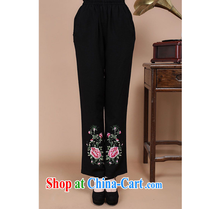 JA the 2014 autumn the new relaxed jacquard has been the Chinese mother with pants FGR - B 920 black XXL