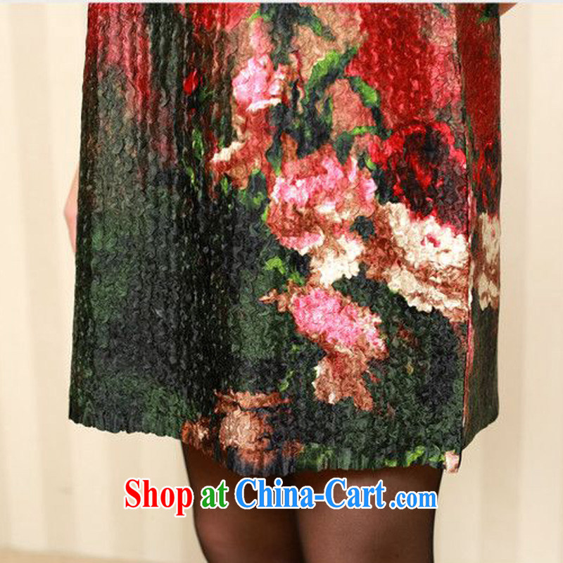 Forest narcissus fall 2014 the new, old fashion, long, special folds, the stamp duty is silk Chinese Dress XYY - 1286 07 #XL, forest narcissus (SenLinShuiXian), online shopping