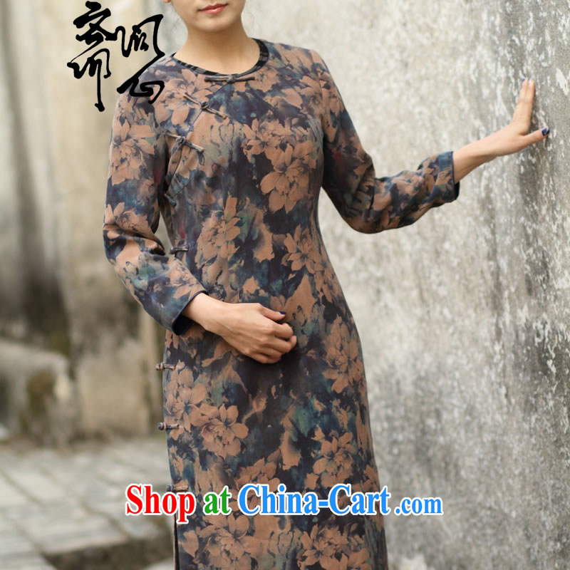 Ask a vegetarian _Yue and autumn as soon as possible new round-collar low-power's long-sleeved suit Silk Cheongsam gradient manual custom 15 Day Shipping manual customization, provides detailed size