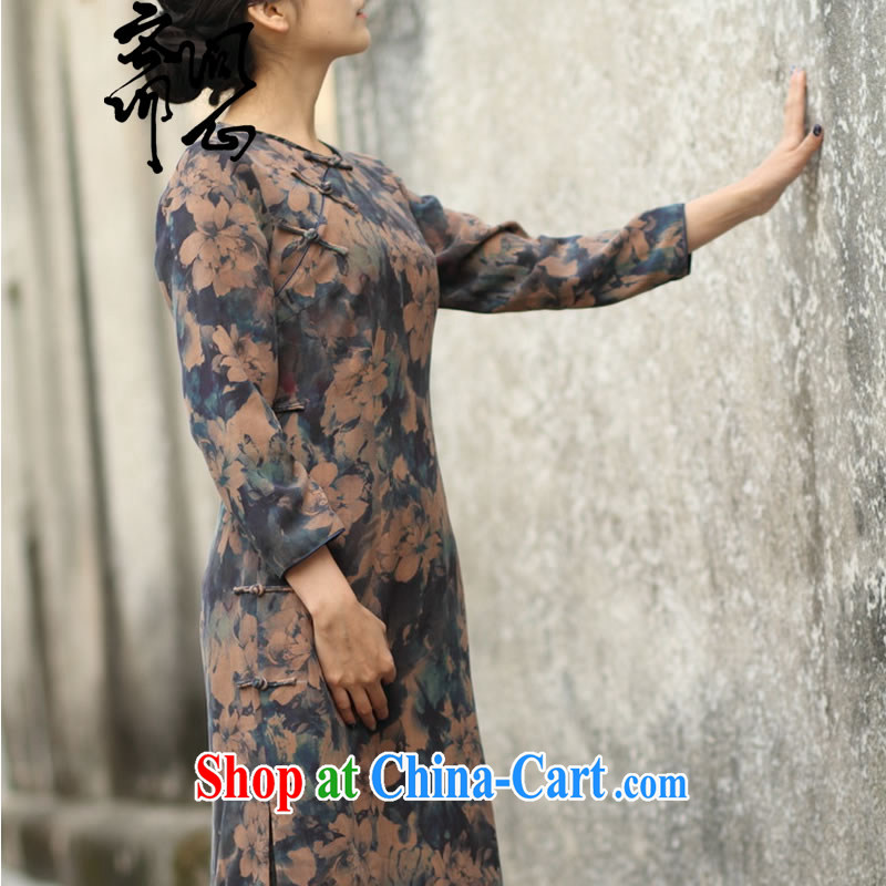 q heart Id al-Fitr (Yue and autumn as soon as possible new round for low-power's long-sleeved suit Silk Cheongsam gradient manual custom 15 Day Shipping manual customization, provides detailed size, ask a vegetarian, shopping on the Internet