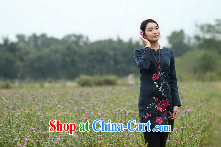 Ask a vegetarian (Yue and autumn as soon as possible new embroidered silk embroidered tray clip long-sleeved dresses, color pictures manually custom 15 Day Shipping manual customization, pictures, price, brand platters! Elections are good character, the national distribution, so why buy now enjoy more preferential! Health