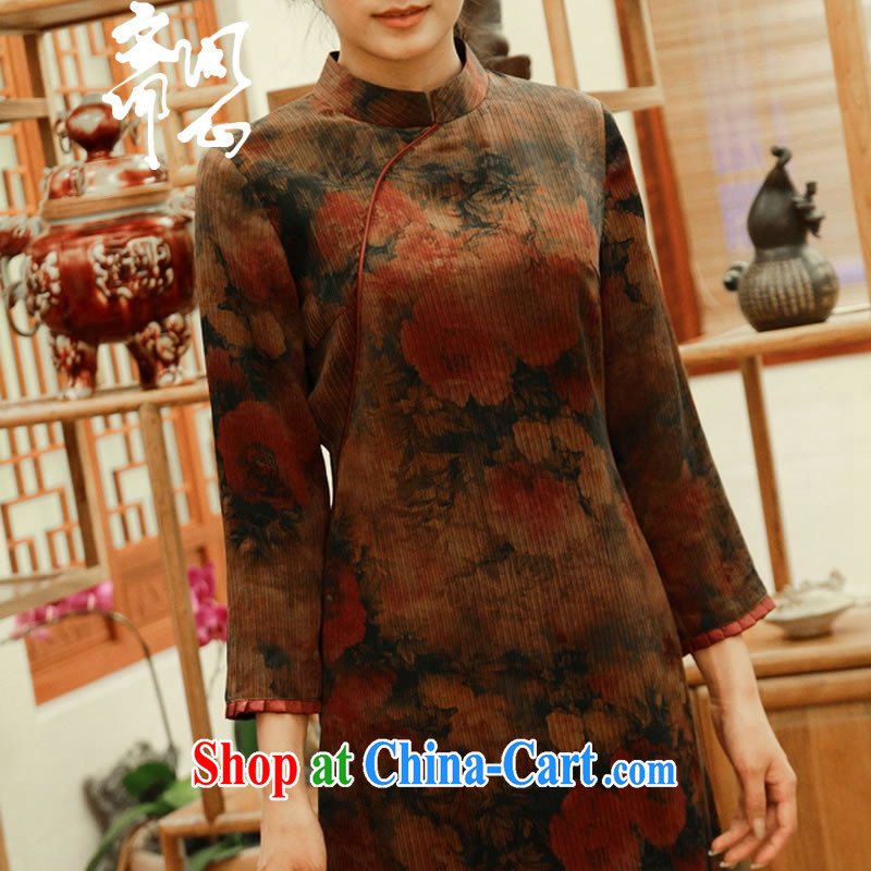 Asked about Ramadan and the Hyatt and autumn as soon as possible new beauty suit 7 cuff asymmetric Silk Cheongsam coat T-shirt WXZ picture color manual custom 15 Day Shipping manual customization,