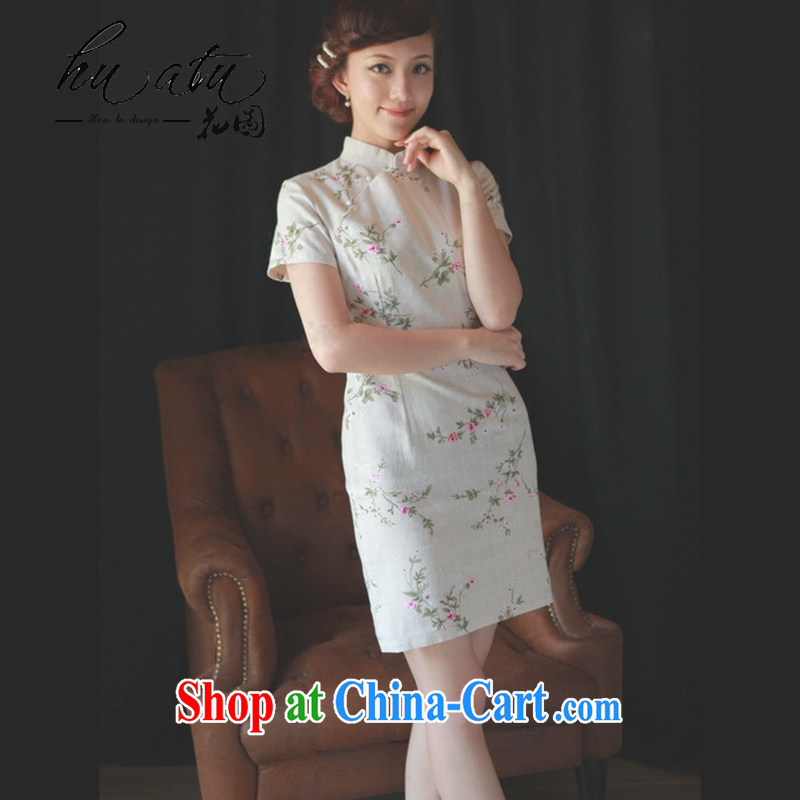 Take the female dresses 2014 new improved modern-day summer short Chinese short-sleeved cotton the retro outfit energy 2 XL