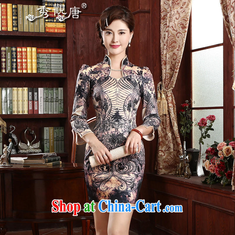 The CYD HO Kwun Tong' aptitudes and stylish improved cheongsam 2015 spring and summer dresses skirts daily cultivating cheongsam dress QZ 4731 fancy XXXL