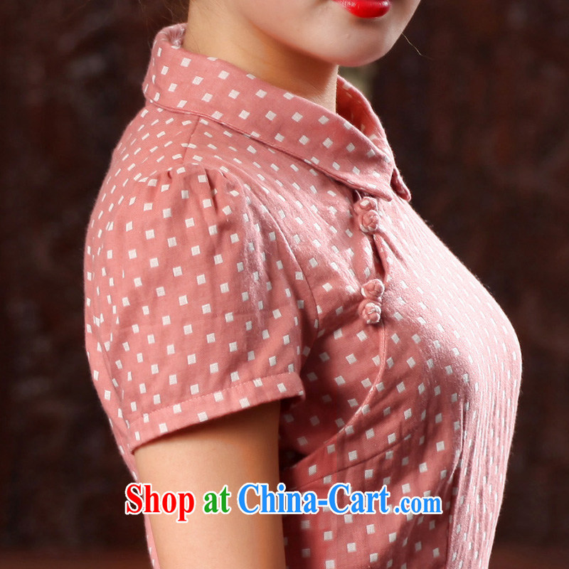 Butterfly Lovers spring 2015 the new Chinese female improved fashion cheongsam shirt cotton Ms. Yau Ma Tei Tong with 46,022 pink S, Butterfly Lovers, shopping on the Internet