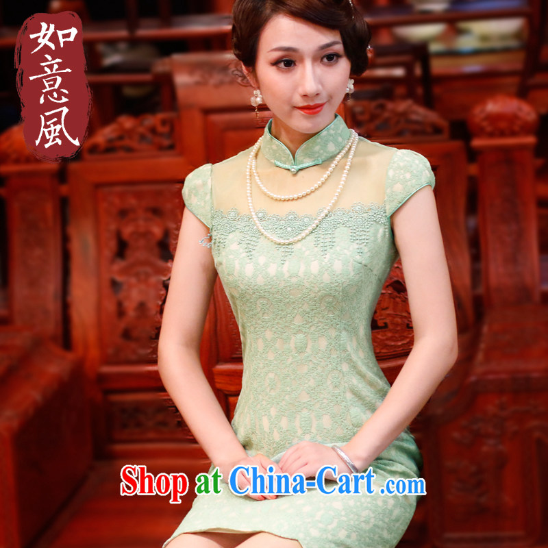 Ruyi style in a new, 2015 summer dresses skirts and stylish everyday retro casual dresses dresses 4503 4503 green XXL