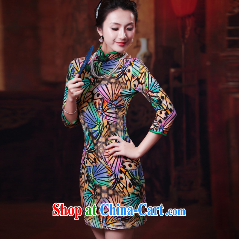 Ruyi style in a new, Autumn 2014 the cheongsam dress in stylish cuff daily retro dresses dresses 4506 4506 fancy XXL sporting, wind, shopping on the Internet