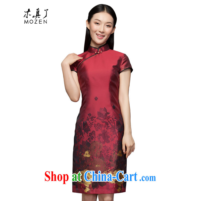 Winter dresses wood is really the 2015 new Uhlans on positioning take short cheongsam 11,711 04 deep red L