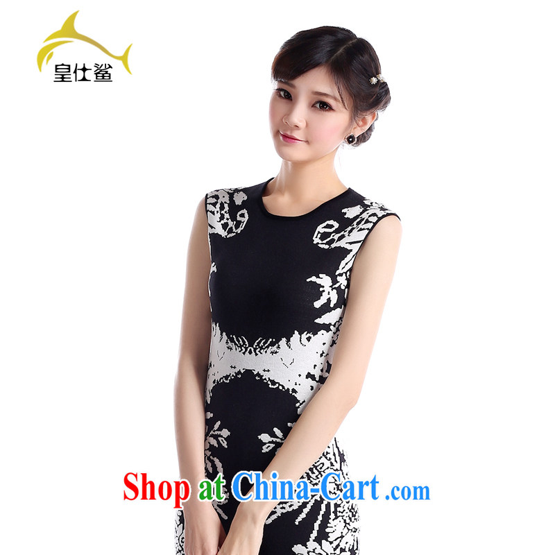 Wong Sze-shark Chinese qipao summer 2015 new and original design China wind graphics thin cheongsam dress unique organizations take women's clothing cheongsam dress H 251燽lack-and-white M