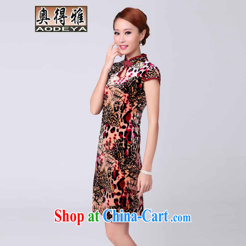 A Mayan 2014 new autumn Women's clothes outfit stamp duty ethnic wind dresses dresses Leopard suit XL