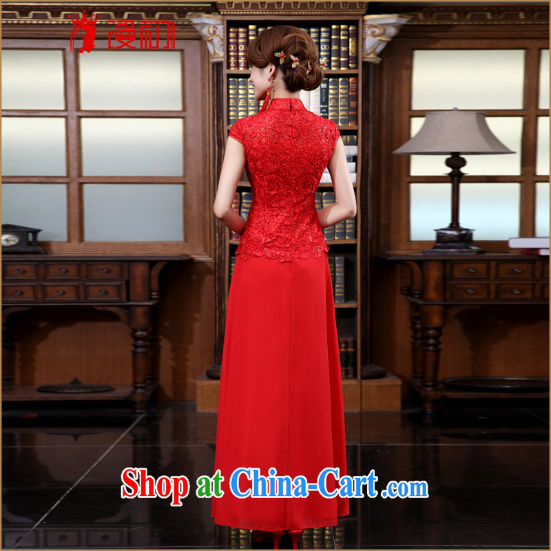 Diffuse early marriages served toast spring 2015 New red retro dresses Package/snow woven dress/evening dress red XXL, diffuse, and shopping on the Internet