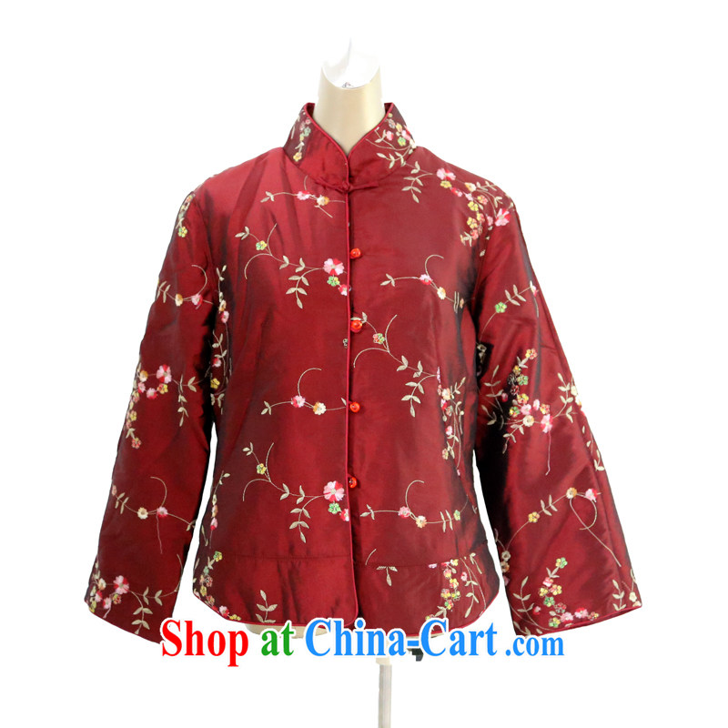 2014 new winter clothing new Chinese cotton suit Chinese wind jacket, warm clothing 040,552 red XXL