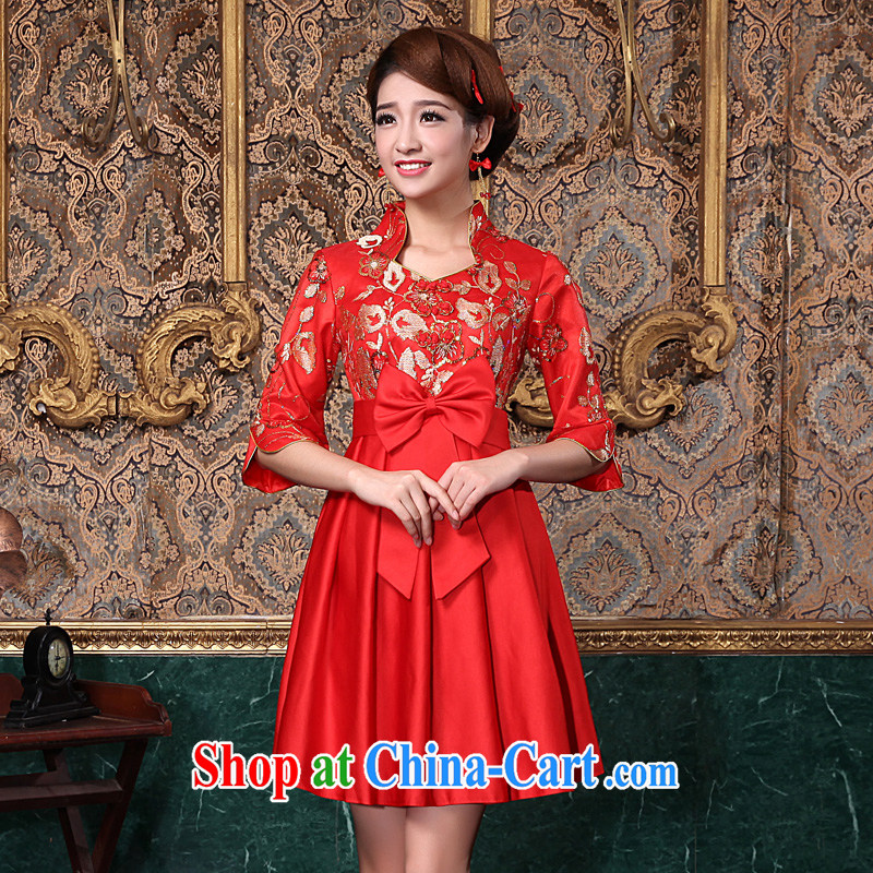 A good service is 2015 new Autumn Chinese brides with toast serving short red, pregnant women wedding dresses, dresses, cuff L