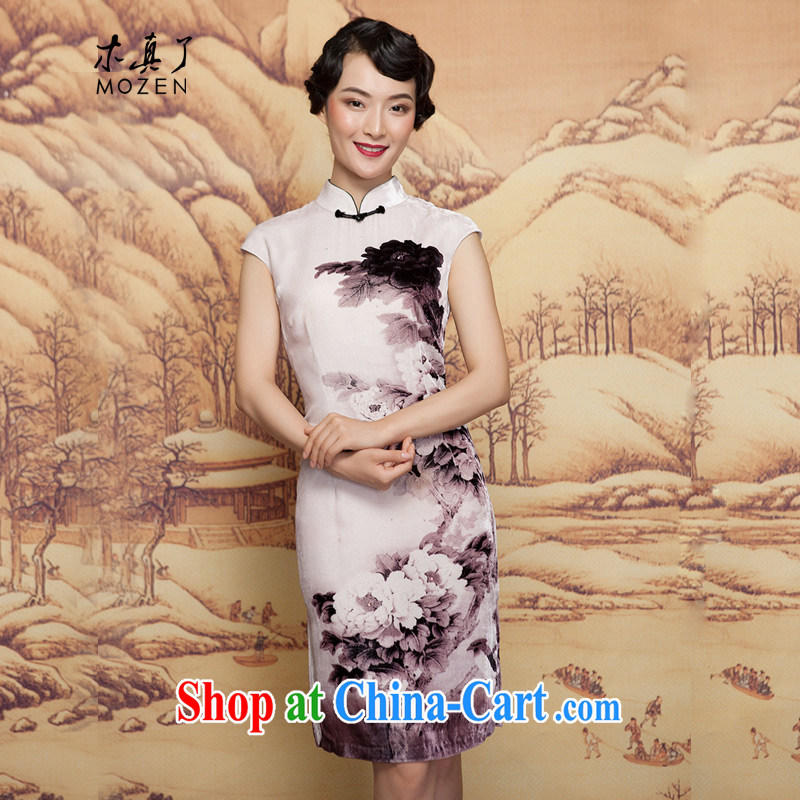 Wood is really the 2015 spring dresses new Chinese Antique Silk Cheongsam dress elegant dresses 00 32,400 mottled XXL (A)