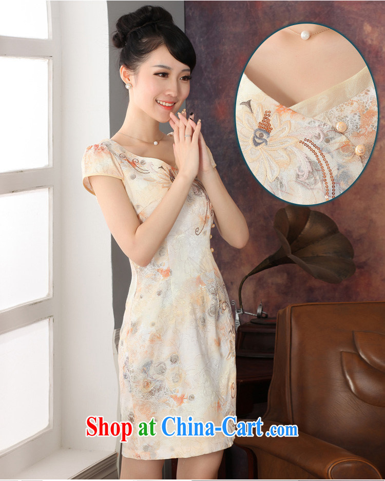 Autumn 2014 the new, improved cheongsam stylish short-sleeve everyday cotton skirt and package mail L pictures, price, brand platters! Elections are good character, the national distribution, so why buy now enjoy more preferential! Health