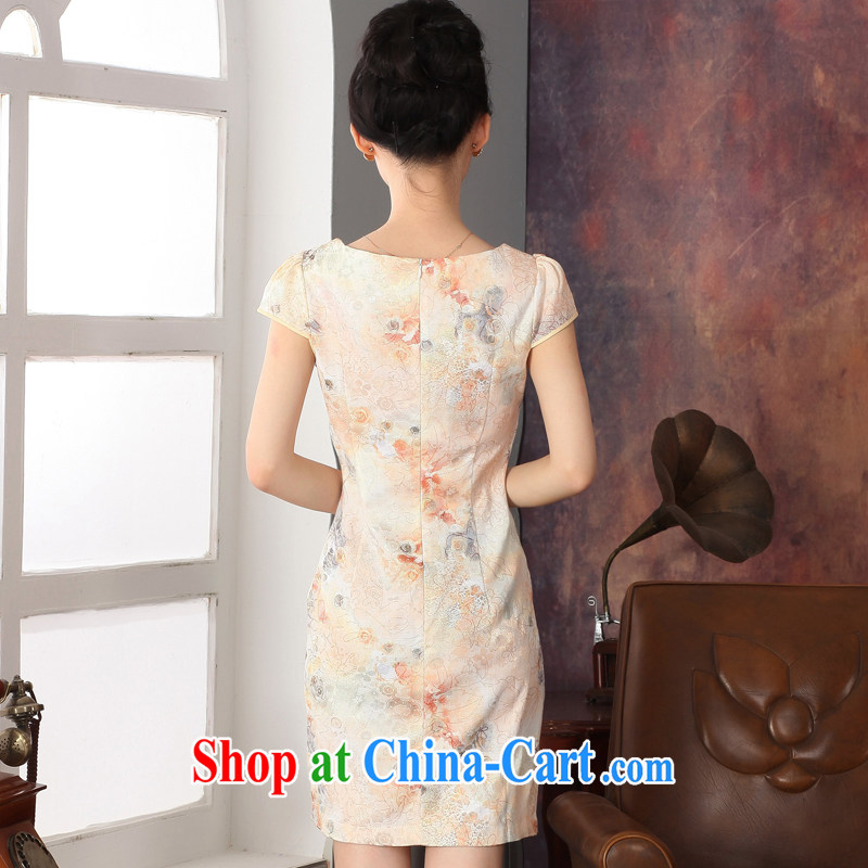 Autumn 2014 the new, improved cheongsam stylish short-sleeve everyday cotton dress and package mail L, Oriental and nobles, and shopping on the Internet