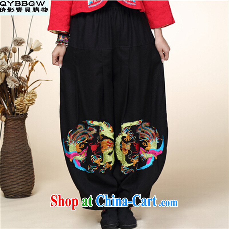 MS ANISSA WONG SEAN-film darling 2014 autumn and winter new Chinese improved Han-Chinese ethnic wind shirwal trousers girls trousers high waist black are code