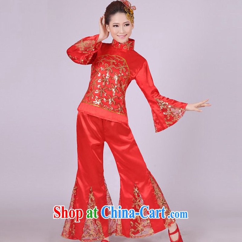Dual 12 arts of classical dance costumes dance Yangge costumes theatrical performances drama skit HXYM - 0004 red figure XXXL