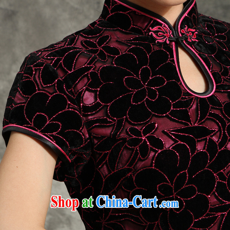 High quality wool 2014 summer new, older larger wedding her mother-in-law with her mother married cheongsam dress dress of red 4 XL