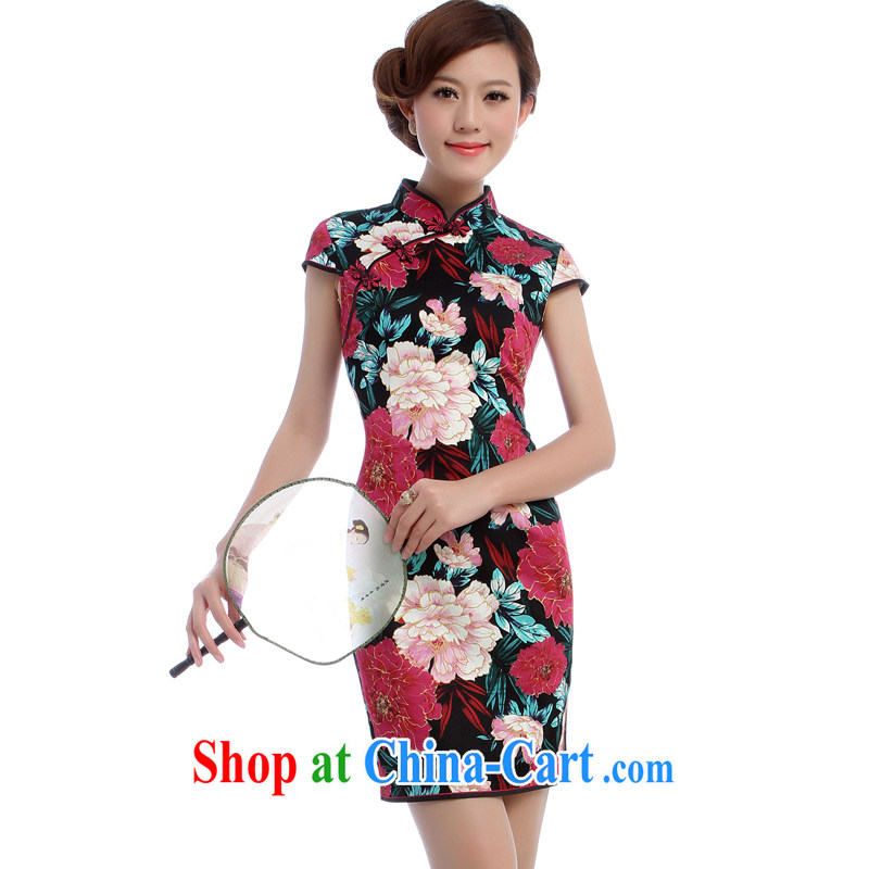 Daily dresses new 2014 summer retro short, for the charge-back old Shanghai the forklift truck dress K Uhlans on 5765 spend XXL