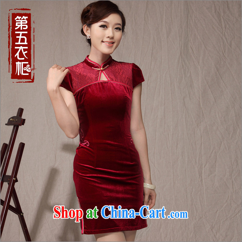 wedding dresses bride's mother's wedding with 2014 new summer XL beauty velvet cheongsam dress XXXL Uhlans on