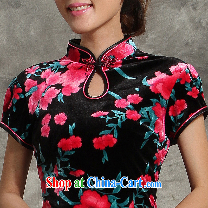 Dresses 2014 new wool Ethnic Wind improved short skirts, waist floral like wedding dresses Mother of skirt red 4 XL