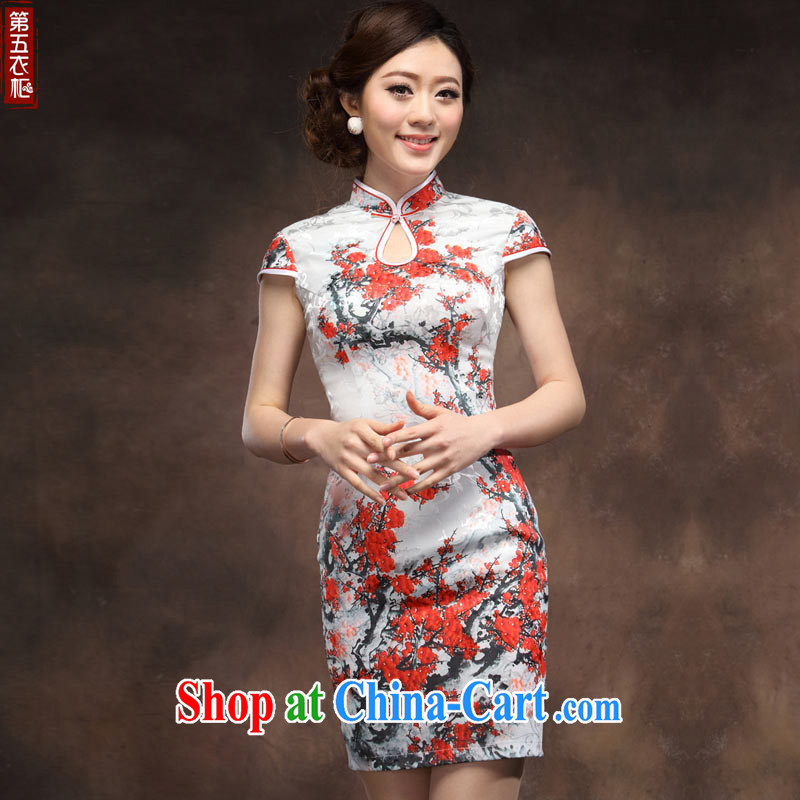 Dresses retro improved cultivating short dresses 2014 summer new Phillips stamp wedding dress suit XXL