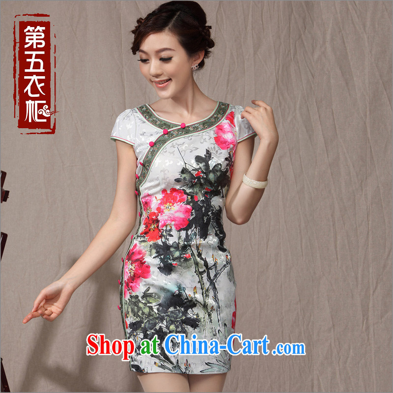 qipao,Chinese Ethnic Wind retro-tie qipao 2014 new summer Mother's Day outfit Fancy dress XXL