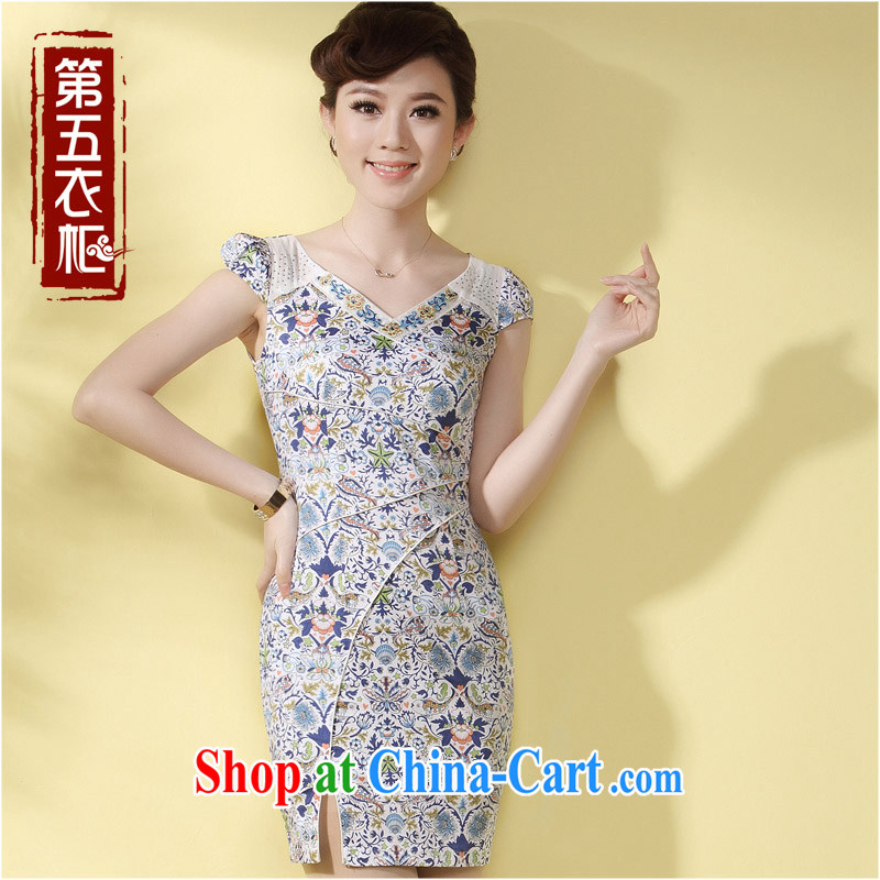 qipao cheongsam dress improved stylish summer 2014 new small the forklift truck sense of style daily female Ki robe Orchid XXL