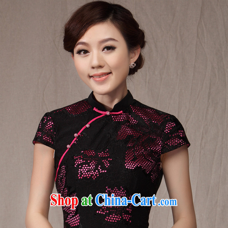 Dresses 2014 summer new cheongsam dress bride's mother's wedding banquet with antique dresses beauty of red XXXL