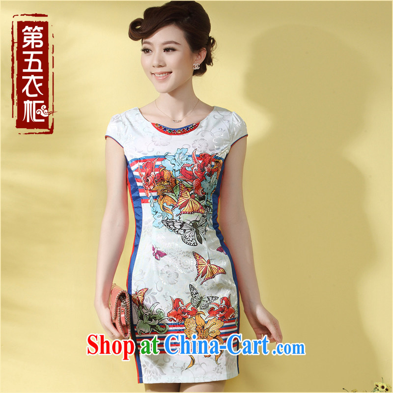 Dresses 2014 new cheongsam dress summer Chinese Ethnic Wind-back Chinese improved daily cheongsam dress suit XXL
