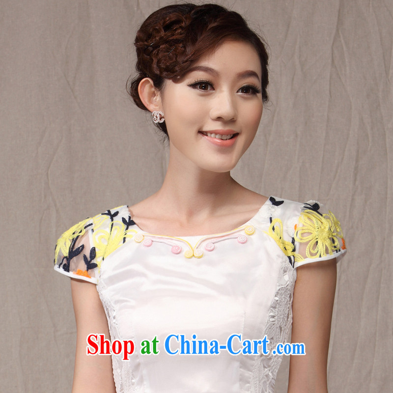 Dresses 2014 new cheongsam dress in summer stylish embroidered lady improved cultivating daily teenage qipao pink XXL, music, and shopping on the Internet