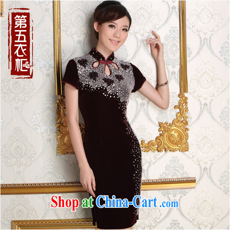 Dresses fall 2014 new products in the evening dress suit manually set in Pearl River Delta long velvet dresses M Uhlans on