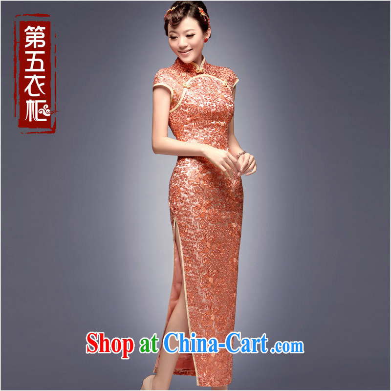 Dresses fall 2014 load, Evening Dress retro bridesmaid high load pink Chinese long wedding dresses orange toner XXL