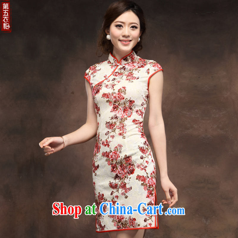 Chinese qipao improved festive lace dresses new 2014 summer stylish wedding MOM dress suit XXXL