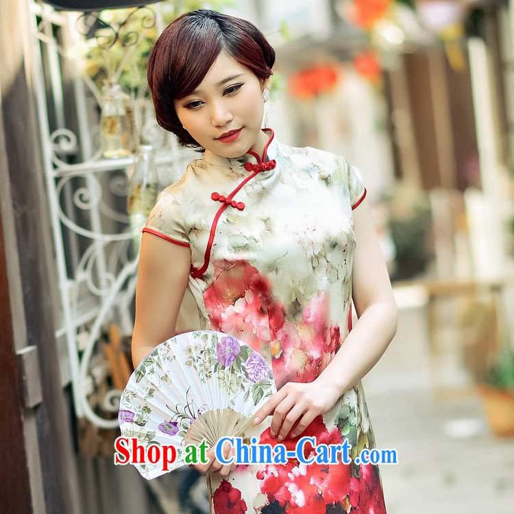 Take an image and Fang 2014 new short silk upscale retro ethnic wind and stylish beauty, Ms. suit outfit M