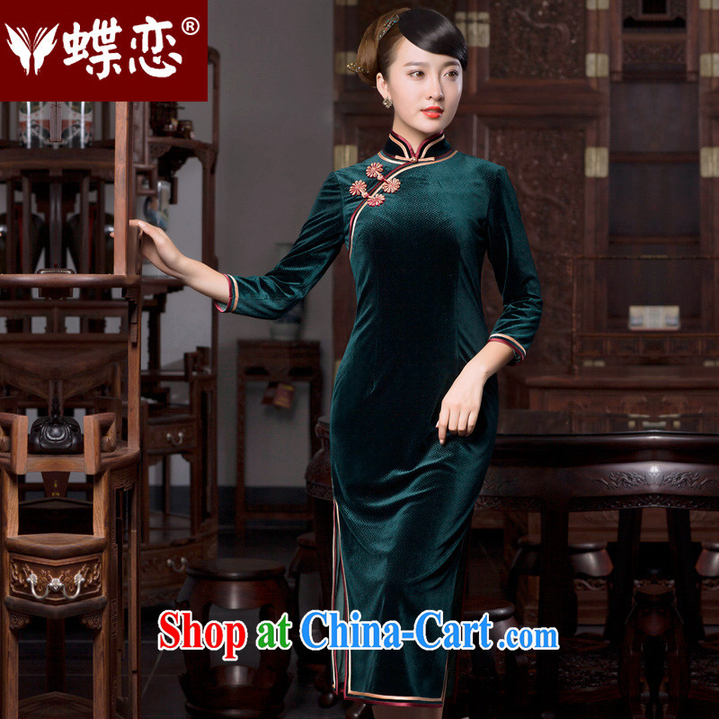 Butterfly Lovers 2015 spring new national retro style cheongsam dress daily fashion improved cheongsam dress 49,059 MOSS L