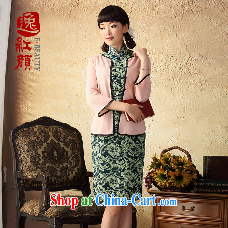 once and for all, fatally jealous ex-gratia linen cheongsam dress fall 2015 with improved fashion, long cotton the cheongsam dress green XL
