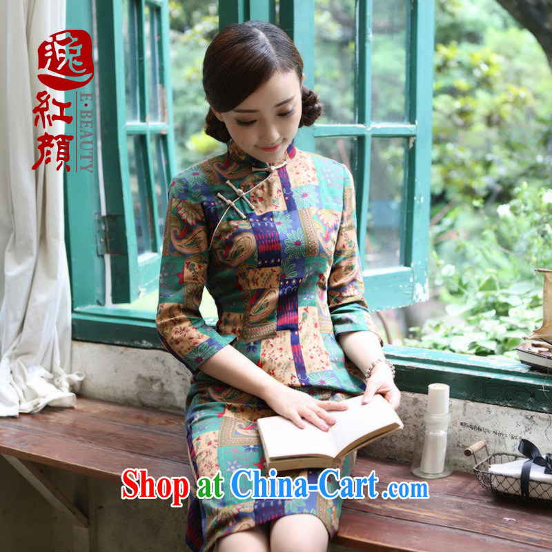 proverbial hero once and for all 9 Palace, pure cotton cheongsam dress spring loaded improved stylish cotton cultivation the cheongsam dress suit XL