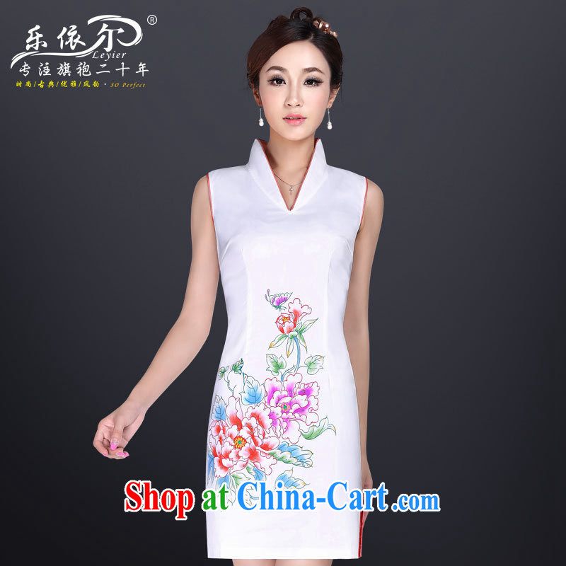 And, according to modern improved sexy outfit short V collar retro dresses skirt summer dress new dresses 2014 pink XXL
