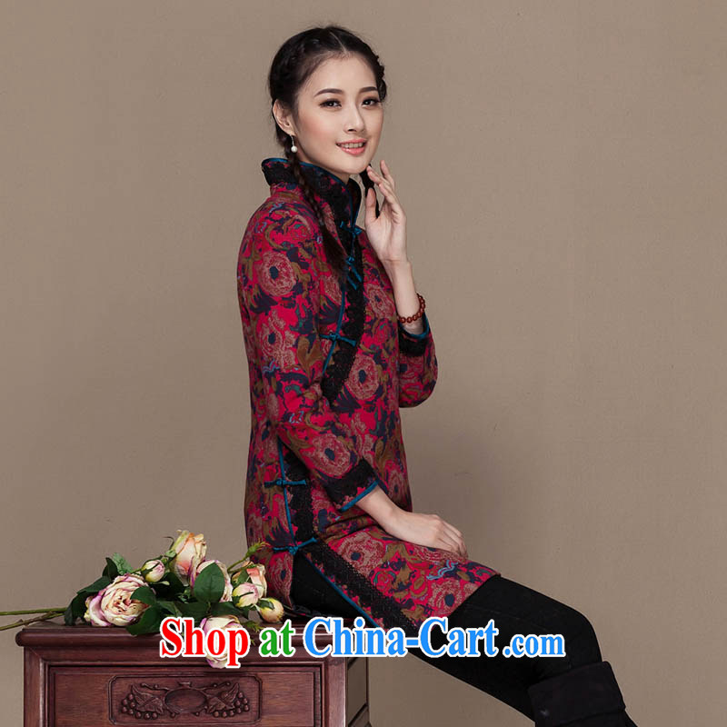 Yin Yue seal 2015 Winter National Chinese T-shirt cotton Ma quilted robes, Han-girls quilted coat jacket improved picture color S seal, Yin Yue, shopping on the Internet