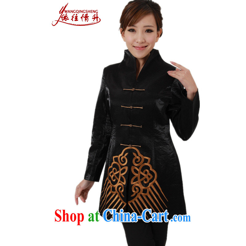 In accordance with the conditions and the older girls Fall/Winter Fashion new products, for embroidered single row for mother in Long Tang Jacket Picture Color 3XL