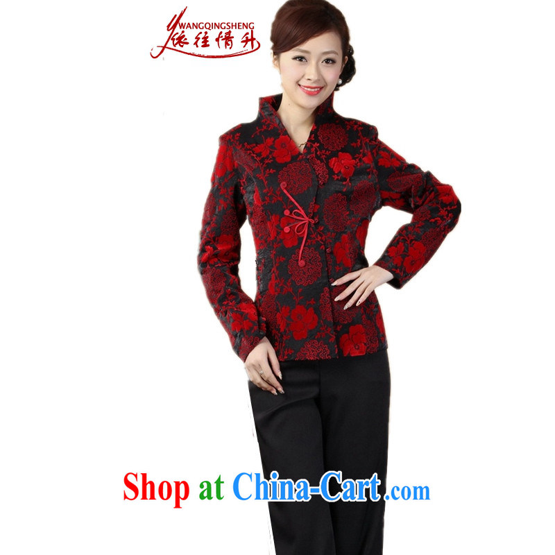 In accordance with the conditions and the older girls Fall_Winter Fashion new products, for a tight embroidered mother load single row buckle Tang Jacket Picture Color 3XL