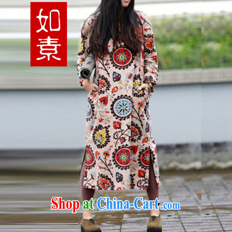 As of 2015, the ladies' cotton the exotic wind suit sense Peking opera stamp cheongsam dress suit 2142 physical dim