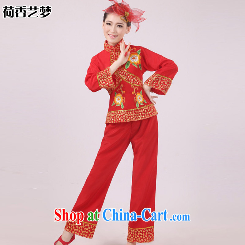 I should be grateful if you would arrange for her dream modern dance costumes yangko clothing fans dance clothing costume Janggu HXYM service 0019 red S